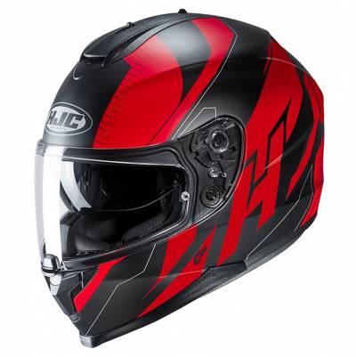 HJC Helm C70 Boltas MC1SF, schwarz-rot-silber