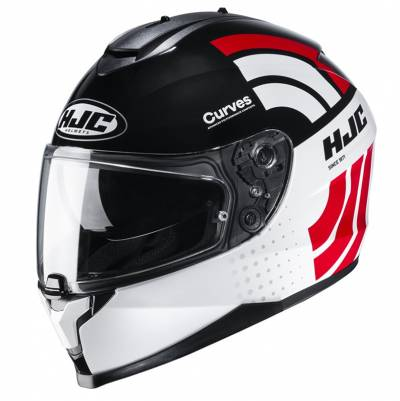 HJC Helm C70 Curves MC1, weiß-schwarz-rot