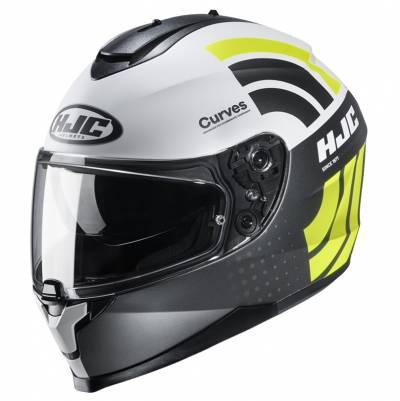 HJC Helm C70 Curves MC4HSF, schwarz-weiß-gelb