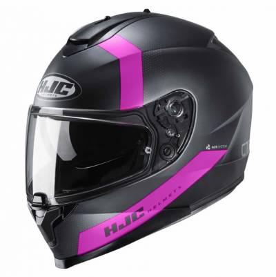 HJC Helm C70 Eura MC1SF, schwarz-pink-matt
