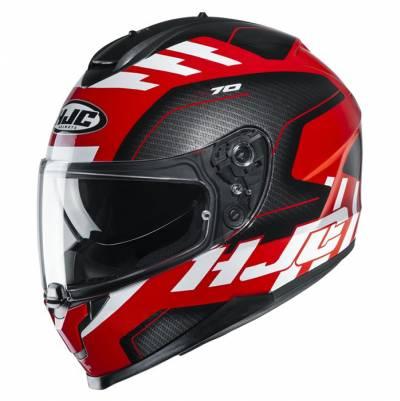 HJC Helm C70 Koro MC1, schwarz-rot-weiß