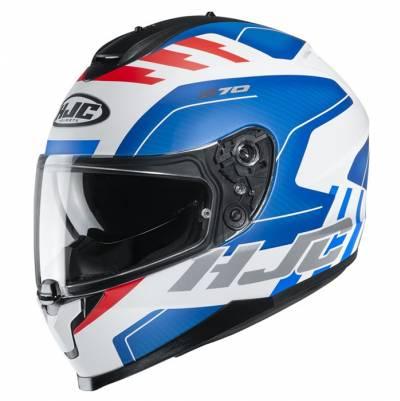 HJC Helm C70 Koro MC21SF, weiß-blau-rot matt