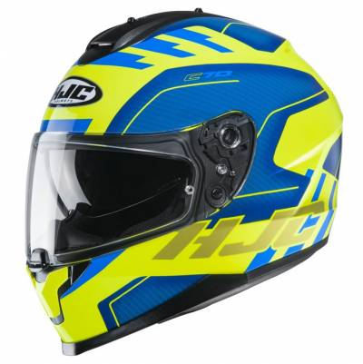 HJC Helm C70 Koro MC3H, blau-fluogelb