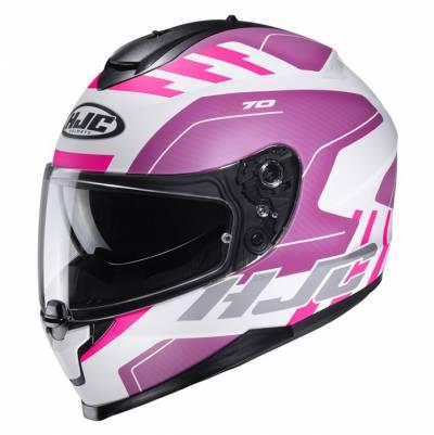 HJC Helm C70 Koro MC8SF, weiß-violett matt