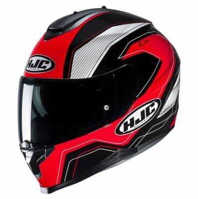 HJC Helm C70 Lianto MC1, schwarz-rot-weiß