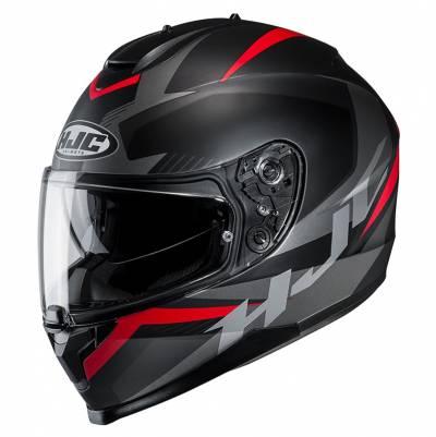 HJC Helm C70 Troky MC1SF, schwarz-rot-silber