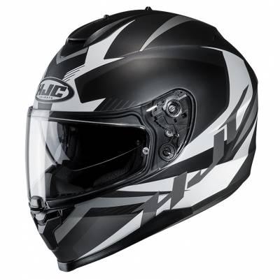 HJC Helm C70 Troky MC5SF, schwarz-weiß-silber