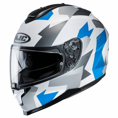 HJC Helm C70 Valon MC2SF, weiß-blau-silber matt