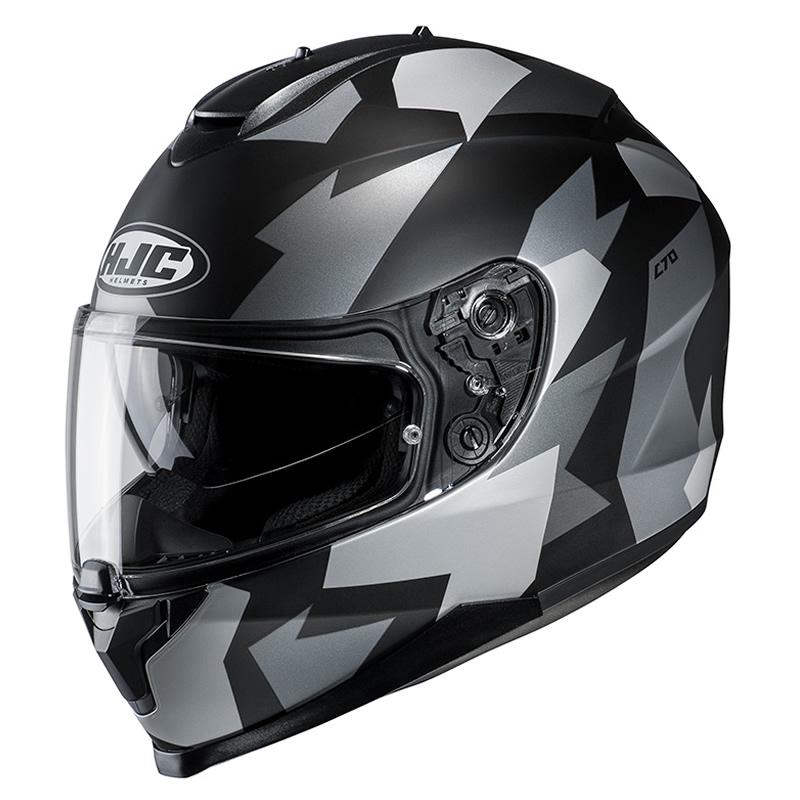 HJC Helm C70 Valon MC5SF, schwarz-silber matt
