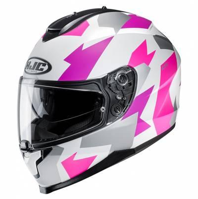 HJC Helm C70 Valon MC8SF, weiß-pink-silber matt