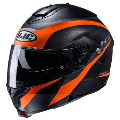 HJC Helm C91 Taly MC7SF, schwarz-orange matt