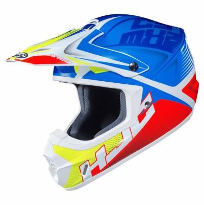 HJC Helm CS-MX II Ellusion MC23, weiß-blau-rot-fluogelb