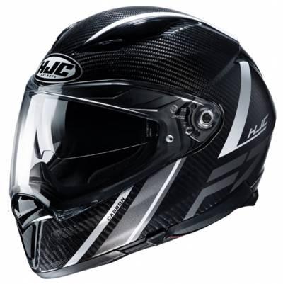 HJC Helm F70 Carbon Eston MC5, schwarz-weiß