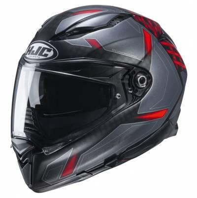 HJC Helm F70 Dever MC1SF, schwarz-rot matt