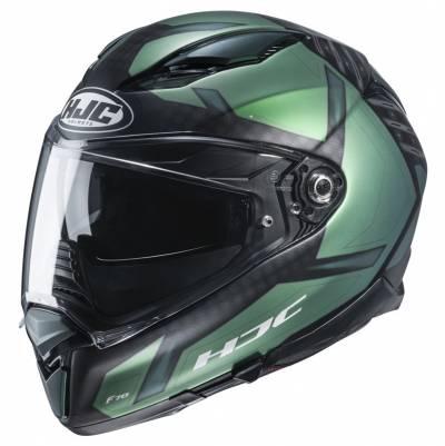 HJC Helm F70 Dever MC4SF, schwarz-grün matt