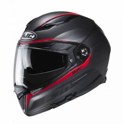 HJC Helm F70 Feron MC1SF, schwarz-rot matt