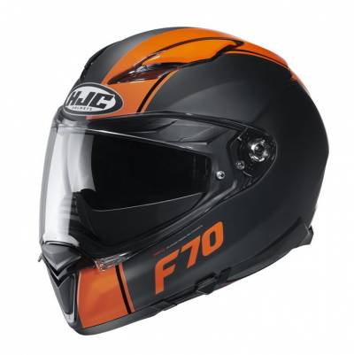 HJC Helm F70 Mago, schwarz orange matt