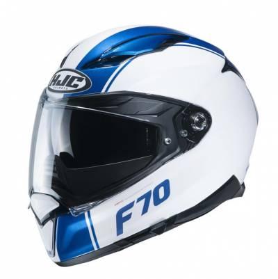 HJC Helm F70 Mago, weiß blau matt