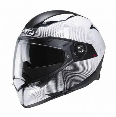 HJC Helm F70 Samos MC10SF, weiß-schwarz matt