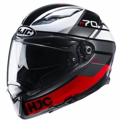 HJC Helm F70 Tino MC1, schwarz-weiß-rot