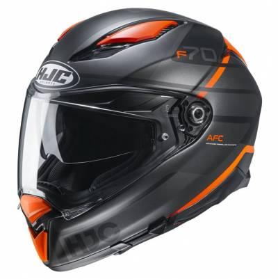 HJC Helm F70 Tino MC7SF, schwarz-orange matt