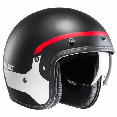HJC Helm FG-70s Modik MC1SF, schwarz-weiß-rot-matt