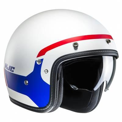 HJC Helm FG-70s Modik MC21SF,  weiß-blau-rot matt