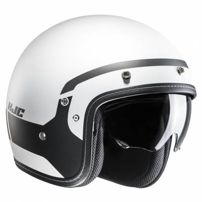 HJC Helm FG-70s Modik MC5SF, weiß-schwarz matt