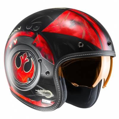 HJC Helm FG-70s Poe Dameron MC1SF, schwarz-rot matt
