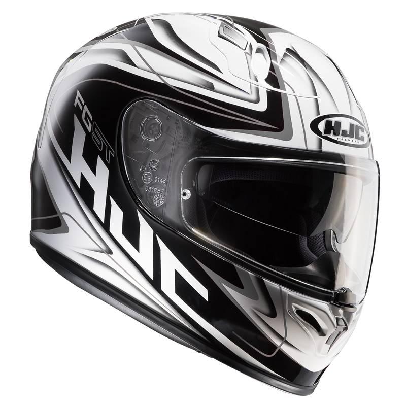 HJC Helm FG-ST Crucial MC10, weiß-schwarz-silber