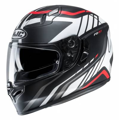 HJC Helm FG-ST Gridan MC1SF, schwarz-weiß-rot matt