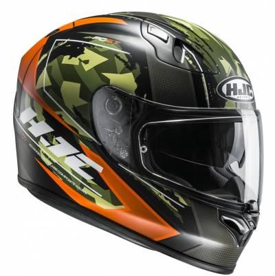 HJC Helm FG-ST Kume MC4HSF, schwarz-orange-grün-matt