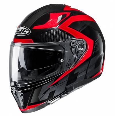 HJC Helm i70 Asto MC1, schwarz-rot-silber