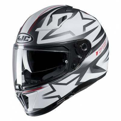 HJC Helm i70 Cravia MC10SF, weiß-silber-rot matt