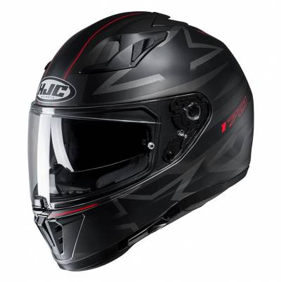HJC Helm i70 Cravia MC1SF, schwarz-silber-rot
