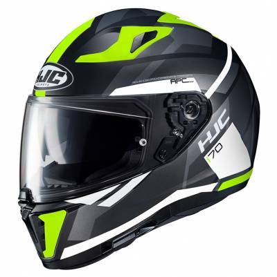 HJC Helm i70 Elim MC4HSF, schwarz-weiß-gelb
