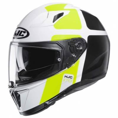 HJC Helm i70 Prika, weiß-fluogelb