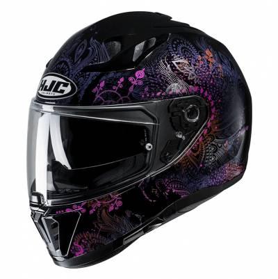 HJC Helm i70 Varok MC8, schwarz-weiß-violett
