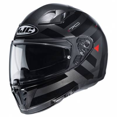 HJC Helm i70 Watu, schwarz-anthrazit-rot