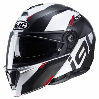 HJC Helm i90 Aventa MC1, schwarz-weiß-rot