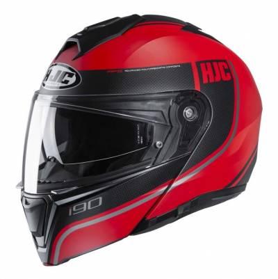 HJC Helm i90 Davan MC1SF, rot-schwarz matt