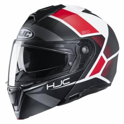 HJC Helm i90 Hollen MC1SF, schwarz-weiß-rot matt
