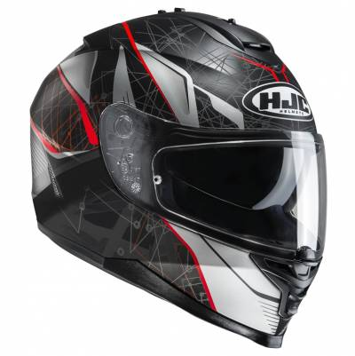 HJC Helm IS-17 Daugava MC1SF, schwarz-grau-rot-matt