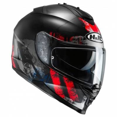 HJC Helm IS-17 Shapy MC1SF (17), schwarz-rot matt