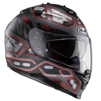 HJC Helm IS-17 Uruk MC1SF, schwarz-rot-matt