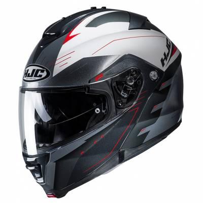 HJC Helm IS-MAX II Cormi MC1, schwarz-weiß-rot-silber