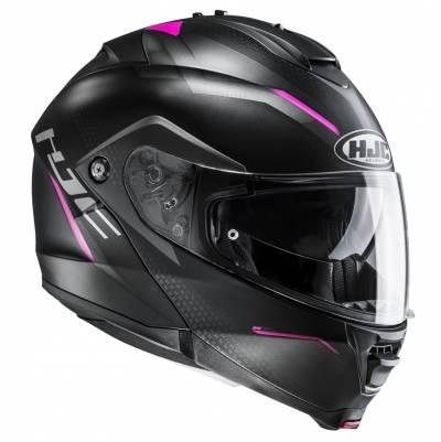 HJC Helm IS-MAX II Dova MC8SF, schwarz-grau-pink matt