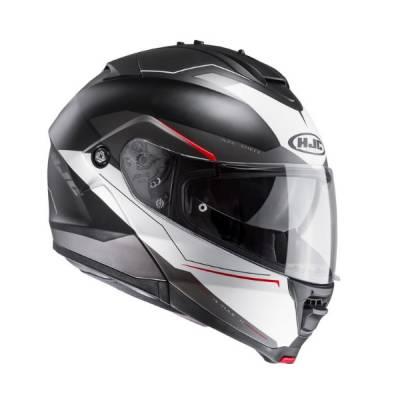 HJC Helm IS-MAX II Magma MC1SF, schwarz-weiß-rot-matt