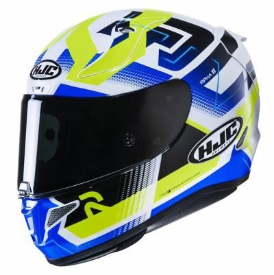 HJC Helm RPHA 11 Nectus, weiß-blau-fluogelb