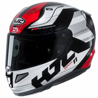 HJC Helm RPHA11 Naxos MC1, schwarz-weiß-grau-rot